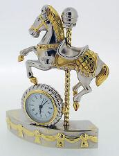 Novelty Miniature Carousel Horse Clock