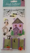 Halloween House Lock & Key  ~ Dimensional Stickers ~ Jolee's Boutique