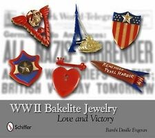 WWII Bakelite Jewelry  Love and Victory Collector Guide Book Brooch Pin Bracelet