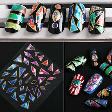 15 Sheets Transfer Stickers 3D Design Manicure Nail Art Tips Decal DIY Decor luy