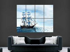 SAILING BOAT POSTER SEA OCEAN WAVES PIRATE SHIP NATURE LARGE GIANT WALL PICTURE