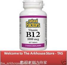 60 T Vitamin B12 Cyanocobalamin 1000 mcg - Natural Factors