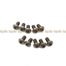 [10pcs] M3 x 6mm Hex Socket Button Head Titanium Screw Screws