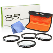 40.5mm Macro Close Up Filter Set 1 +2 +4 +10 Cloth Case for sony nikon lens SALE