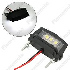 Motorcycle Black Mini LED License Plate Light For Honda Kawasaki Yamaha Suzuki