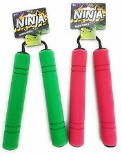 Ninja Nunchaku Toy Weapon Pk 2 Black Green RedHalloween Costume Acces Nunchucks