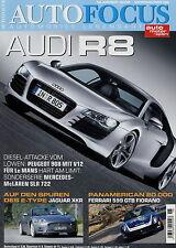 Auto Focus 6 06 2006 Audi R8 Jaguar XKR Lexus LS600h SLR McLaren 722 Smart 911