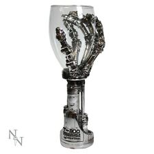 TERMINATOR 2 T-800 CLAW GOBLET WINE GLASS SKELETON HAND NEW NEMESIS NOW HAND
