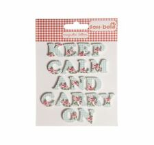 New - Sass & Belle Blue & Pink Gingham Fridge Magnets Keep Calm & Carry On
