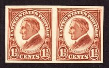 US 631 1-1/2c Harding Mint Pair XF OG NH w/o Gum Break Ridges