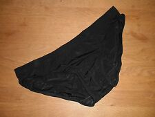 Men's Large Sexy Seamless Black Nylon Spandex Low Rise Briefs Full Back Gay UK