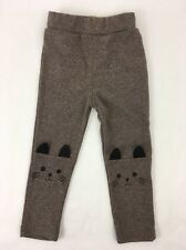 Cat Knee Baby Leggings Pants Heather Brown Cotton QBT 18 To 24 Months Soft