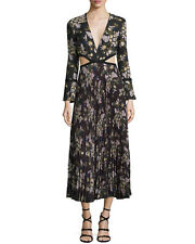 """A.L.C. """"JOSEFA"""" FLORAL PLEATED MIDI DRESS SIZE 0 $795 NEW WITH TAG"""