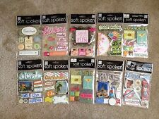 Soft Spoken (MAMBI) SCRAPBOOKING CARD MAKING EMBELLISHMENTS 10 PACKS ALL NEW
