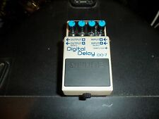 Boss DD-7 Digital Delay Used velcro bottom Guitar bass synth pedal EXCELLENT!!