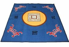 "31"" Blue Slip Slide Resistant Mahjong Domino Card Game Table Cover Mat"