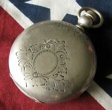 Antique Dueber Coin Silver 18 size Pocket Watch Case