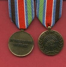 UN United Nations Mission Award medal for Yugoslavia with ribbon bar
