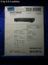 Sony Service Manual SCD XE680 Super Audio CD Player (#5891)