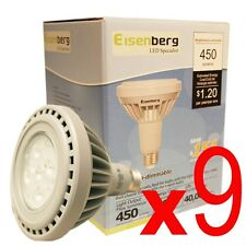 (Lot of 9) PAR30 LED Light Bulb Indoor/Outdoor 45W/10W Recessed/Security Use New