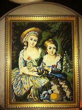 ANTIQUE 1800S Marie Antoinette ERA NEEDLE POINT TAPESTRY JUST  AMAZING !!!!!!!