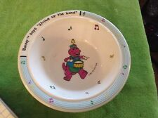 "Barney ""strike up the band"" kids 1992 Selandia cereal bowl"