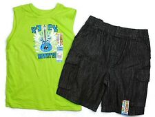 2 NWT GARANIMALS Boys Kid Clothes Spring Summer Outfit Tank Top Shirt Shorts 4T