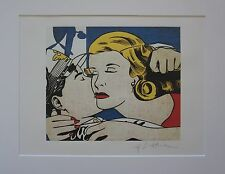 "Roy Lichtenstein ""The Kiss"" Lithograph plate signed"