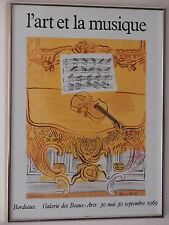 "Raoul Dufy -""L'art et la musique""Gorgeous Framed Litho Reduced BLACK FRIDAY SALE"