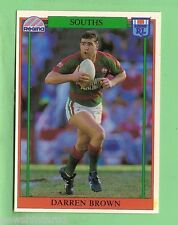 1993  SOUTH SYDNEY RABBITOHS  RUGBY LEAGUE CARD #45  DARREN BROWN
