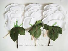 3 Pcs Wonderful Vintage White Millinery Hat Pad Flower UNUSED Original Tag