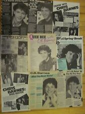 Christopher Daniel Barnes, C.B., CB, Lot of NINE Full Page Vintage Clippings