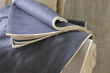 Vintage antique French DENIM Indigo blue per YARD fabric Upholstery material old