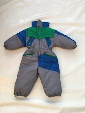 "Boys Grey Ski Suit Sz Waist 20"" Vgc #401"