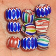 Perle CHEVRON Ancien Afrique Antique African Venetian 6 Layer Glass Trade Beads