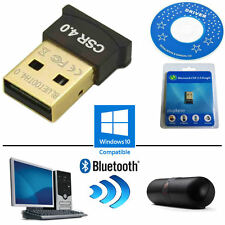 Adaptador Bluetooth Dongle Inalámbrico Mini Usb v4.0 EDR CSR PC Computadora portátil Windows 10 8 7