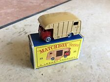 MATCHBOX LESNEY 35a ERF HORSE BOX SILVER PLASTIC WHEELS