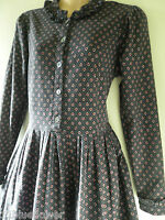 Vintage Laura Ashley Dress Edwardian Victorian 20' 30's Wales Rare 8 36 US 4