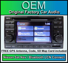 Nissan Micra Sat Nav car stereo with Map SD Card, LCN Connect CD player radio