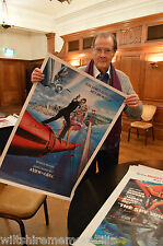 Roger Moore James Bond 007 Signed A View To A Kill  Movie Poster Photo Proof