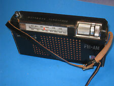 Panasonic RF-800 FM-AM Transistor Radio Leather Case National Matsushita  21E3