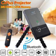 C2Plus Smart DLP Projector WiFi Portable 1GB+ROM 16GB Mini Android TV Projector