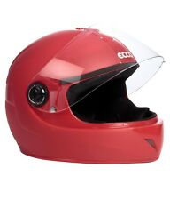 Ecco Full Face Light Weight Helmet - Red Matt ISI marked