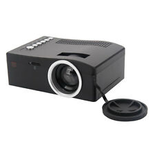 UC18 Mini Micro 48 Lumens LED Projector Multimedia Player HDMI VGA USB AV Schwar