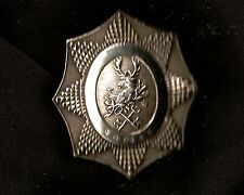 1859, VICTORIAN, England, Deer and Keys Large Sterling Silver badge, 5 hallmarks