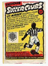 Anglo-American Gum Bell Boy wax wrapper Famous Soccer Clubs #49 St Saint Mirren