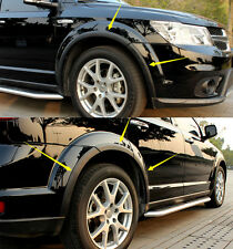 Black Wheel Arch Fender Flares 10pcs For Dodge Journey Fiat Freemont 2013-2015