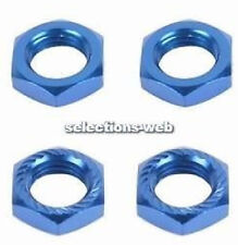 4 Fastrax Serrated Wheel Nuts 17mm x 1.25  1/8th Scale RC Blue Anodsed FAST926B