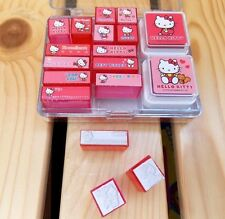 Sanrio Hello Kitty Cute Stamp Set W/ 2 Color Inks and Plastic Case - Red