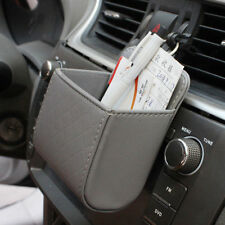 1Piece Car Gray Accessories Air PU Box Organizer Phone Pocket Vehicle Bag Holder